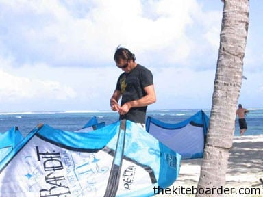 """Former KPWT World Champion Mickael """"Mica"""" Fernandez gets ready for another day of demos in paradise."""