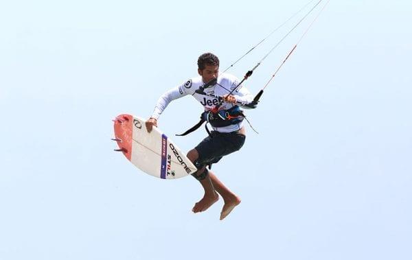 Paulino Pereira, mid kite loop